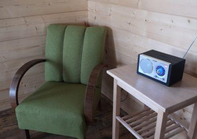 Velká chata: Část společenské místnosti.